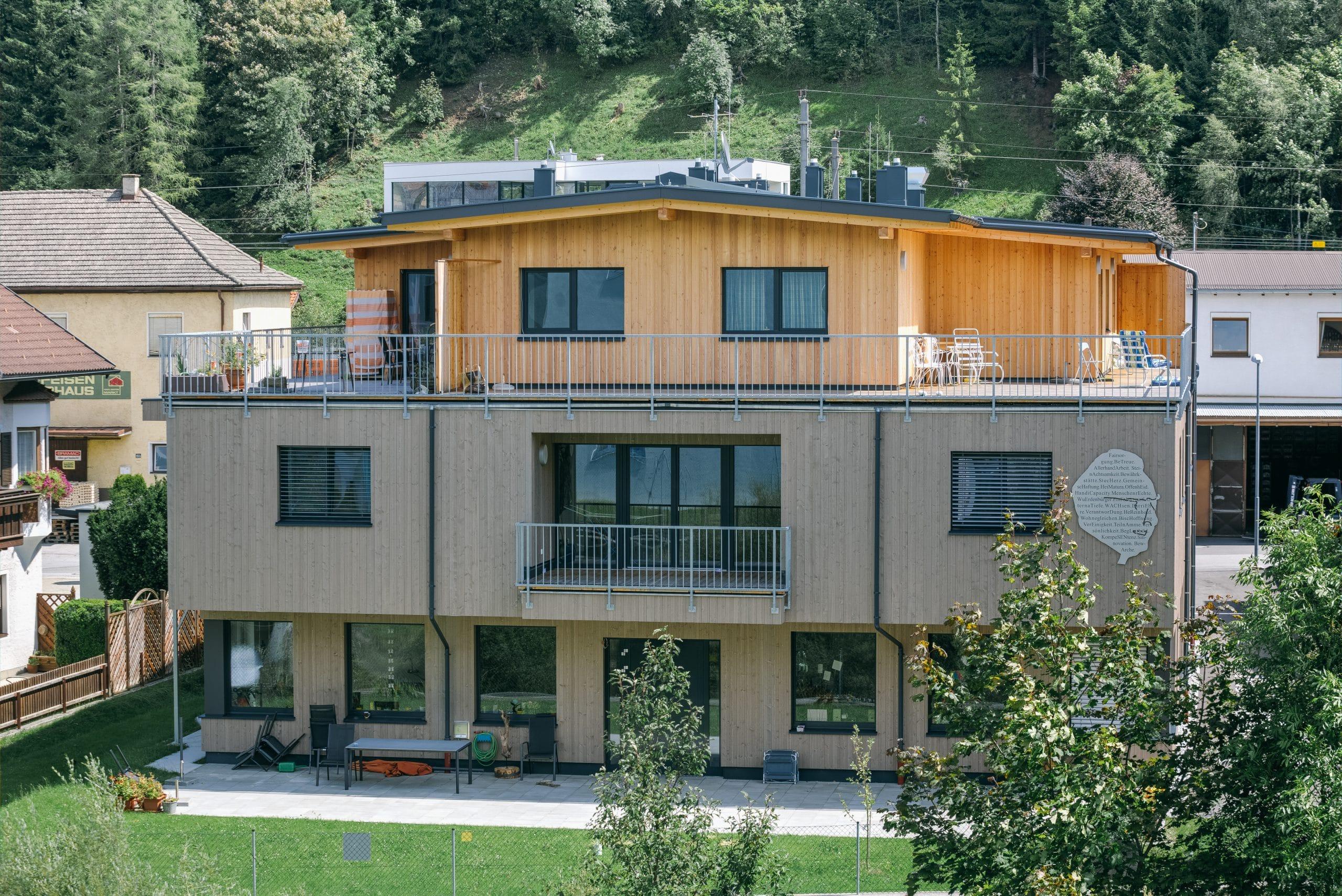 Neubau Wohnheim ARCHE Steinach - Schafferer Holzbau